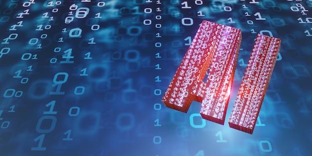 Ai inteligencia artificial imagen de fondo red tecnología informática digital