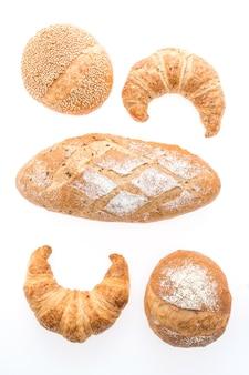 Aislado alimento panadería del rodillo croissant