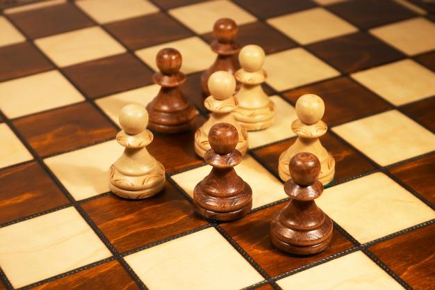 Ajedrez en el tablero de ajedrez