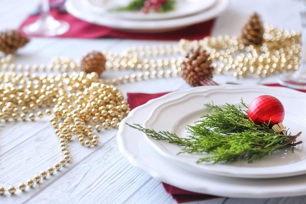 Ajuste de la mesa de navidad