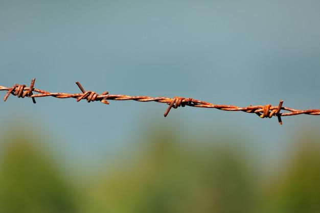 Alambre de púas de acero
