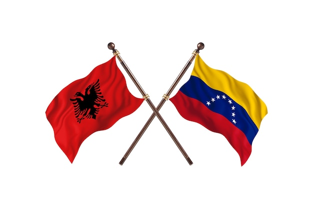 Albania contra venezuela dos banderas