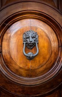 Aldaba de puerta con cabeza de león