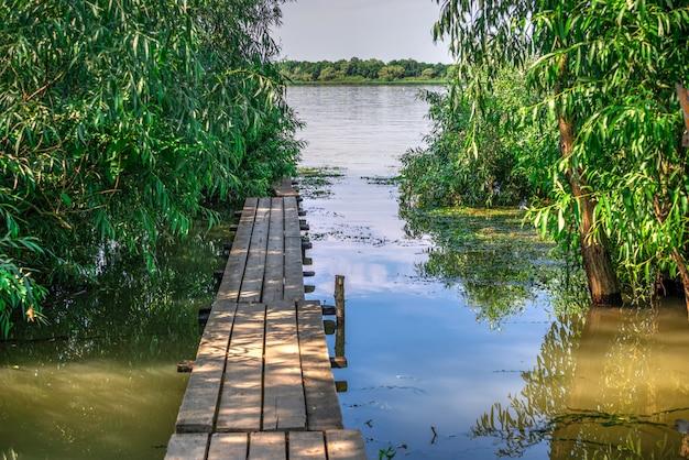 Aldea vilkovo en la región de odessa, ucrania