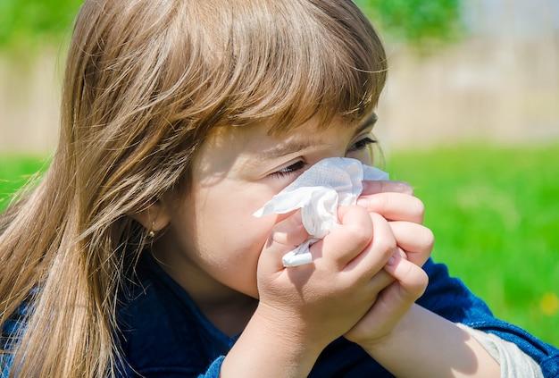 Alergia estacional en un niño