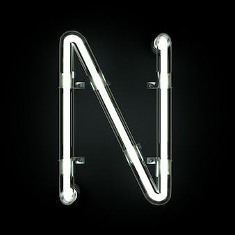 Alfabeto de luz de neón n