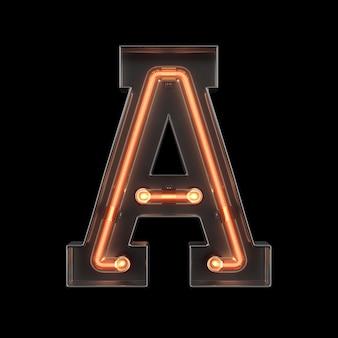Alfabeto de luz de neón a