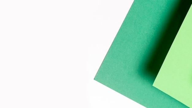 Alfombra verde trenzada para tiro de ángulo alto de fitness