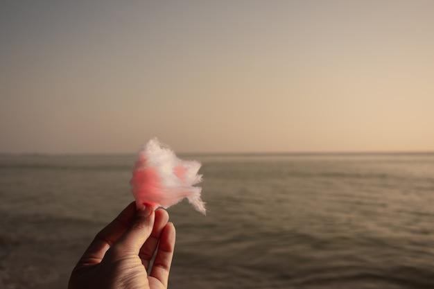 Algodón de azúcar en la playa