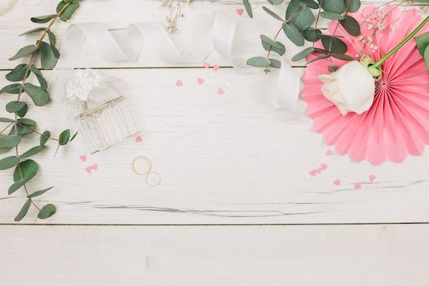 Alianzas de boda con flores