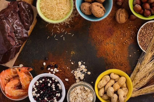 Alimento rico en minerales de cobre.
