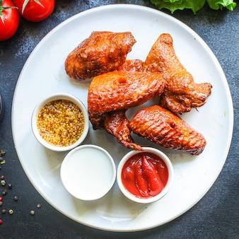 Alitas de pollo ahumadas carne aves de corral