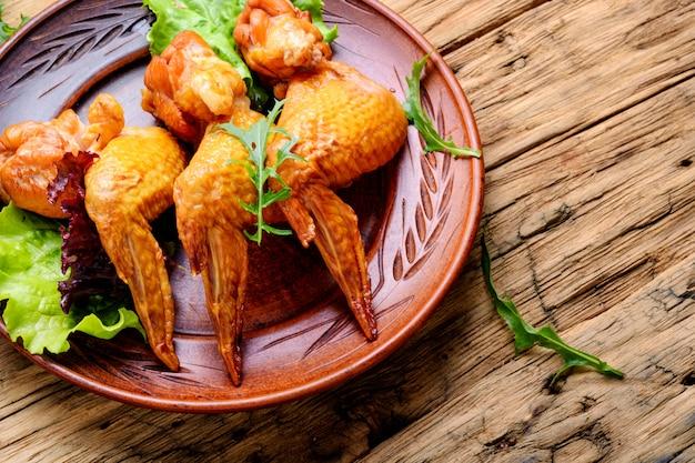 Alitas de pollo ahumadas