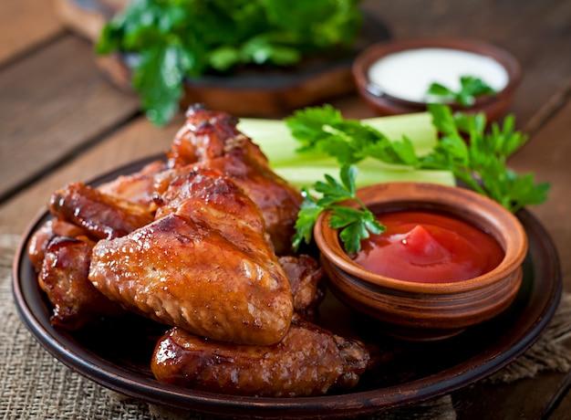 Alitas de pollo al horno con salsa teriyaki