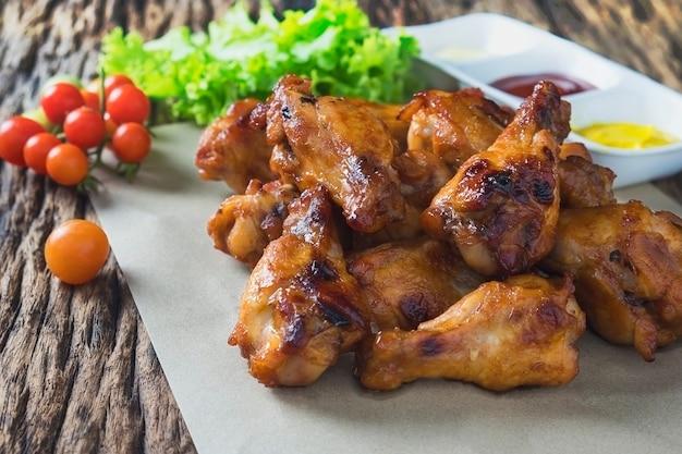 Alitas de pollo asadas al horno