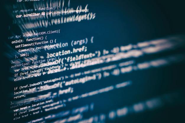 Almacenamiento de big data y representación de computación en la nube. código de programación.