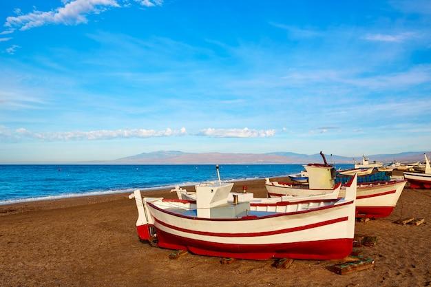 Almeria cabo de gata san miguel barcos de playa