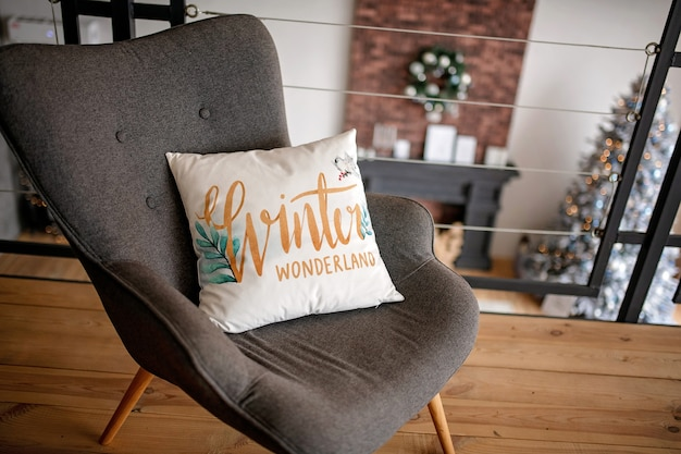 Almohada decorada de navidad