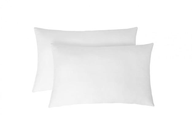 Almohadas blancas suaves aisladas
