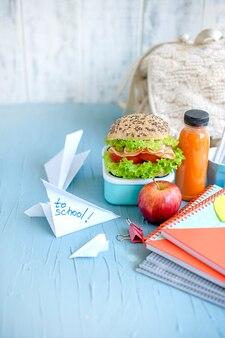 Almuerzo a la escuela.
