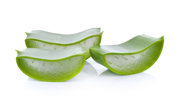 Aloevera en blanco backgrouynd