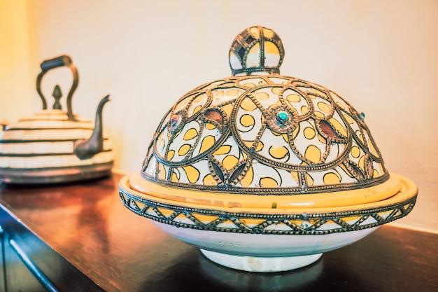 Alumbrado de la placa arte habitación marrakech