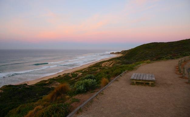 Amanecer mañana en la playa