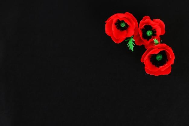 Amapola roja de papel bricolaje día de anzac