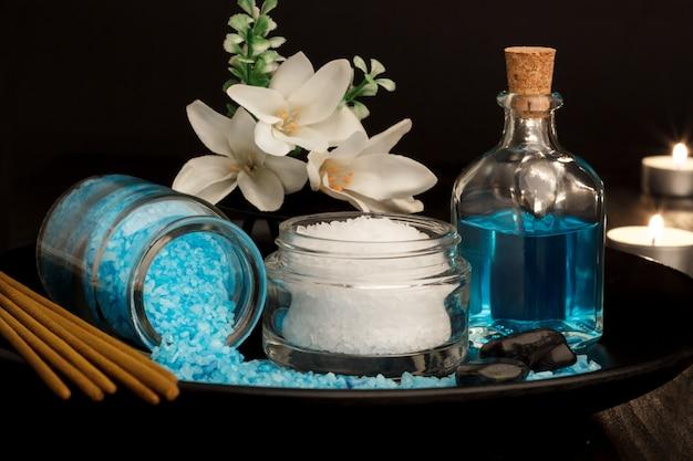 Ambiente de spa y artículos de salud.