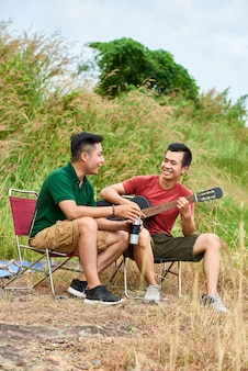 Amigos de camping
