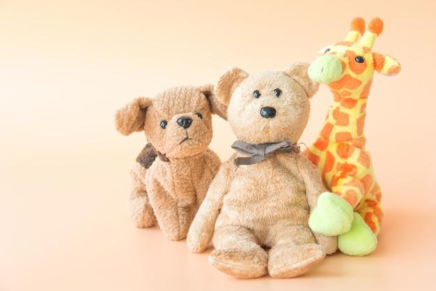 Amistad: los amigos de los animales lindos se sostienen en los brazos.
