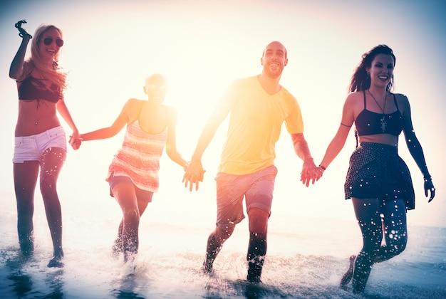 Amistad freedom beach summer holiday concept