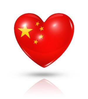 Amo el icono de la bandera del corazón de china
