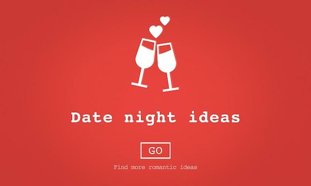 Amor cotizaciones romance concepto de sitio web de san valentín