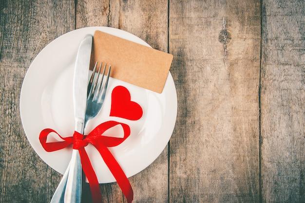 Amor de fondo y romántico. enfoque selectivo comida