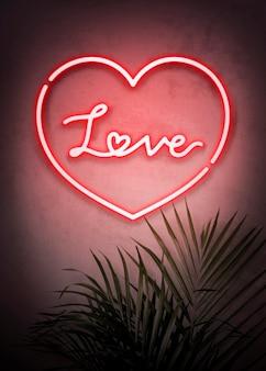 Amor letrero de neón