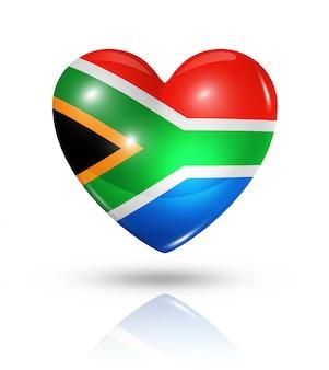 Amor sudáfrica icono de la bandera del corazón