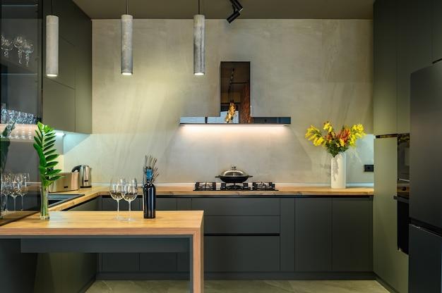 Amplio y moderno apartamento estudio de lujo con cocina