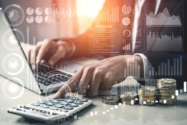 Análisis de datos para el concepto de negocios y finanzas