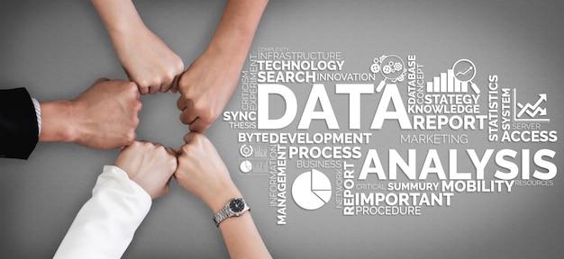 Análisis de datos para negocios y concepto de finanzas