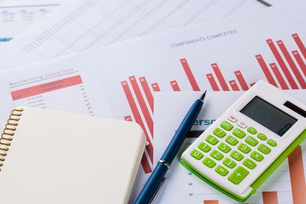 Análisis financiero de gráficos y cuadros