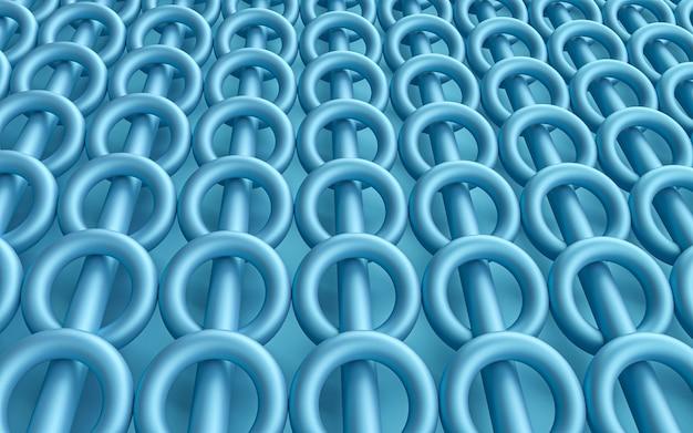 Anillo de círculo azul fondo geométrico abstracto representación 3d papel tapiz premium