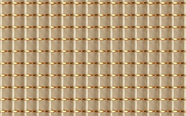 Anillo de círculo de oro fondo geométrico abstracto representación 3d papel tapiz brillante