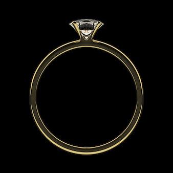 Anillo de oro con diamante.