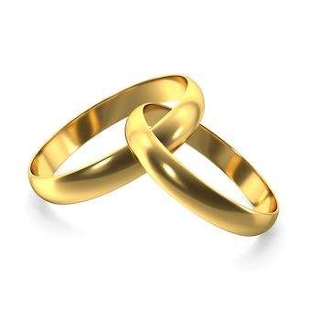 Anillos de oro para el día de san valentín
