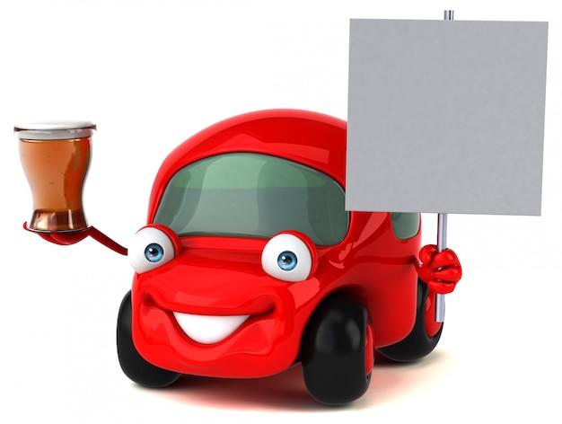 Animación divertida de autos