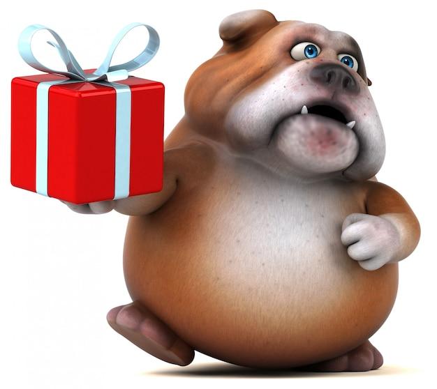 Animación divertida de bulldog