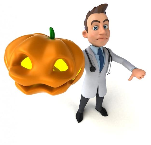 Animación divertida del doctor
