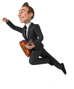 Animación divertida del empresario