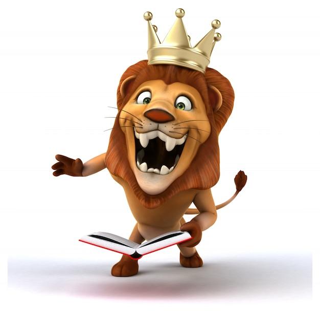Animación divertida del león
